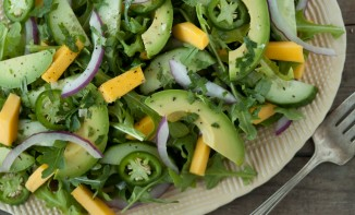 Photo credit: What's Gaby Cooking - http://whatsgabycooking.com/tropical-avocado-salad/#.Ufb_wY21FGK